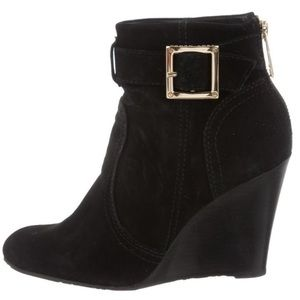 Tory Burch Deanna Wedge Suede Ankle Booties